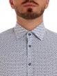 W. Wegener 5965 kék slim fit férfi ing