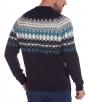 W. WEGENER 6935 kék mintás férfi pulóver