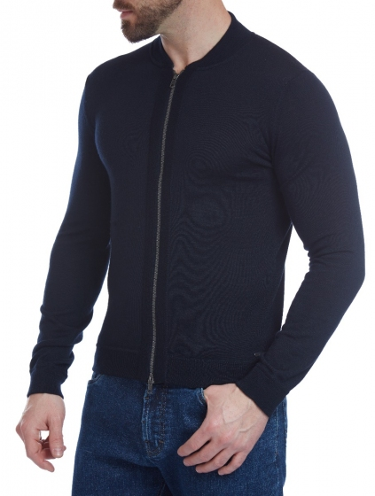 W. WEGENER 6924 kék férfi pulóver