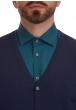 W. WEGENER 6902 kék férfi pulóver