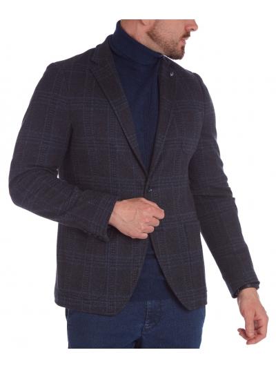 W. Wegener Jack-Jersey 6754 kék férfizakó