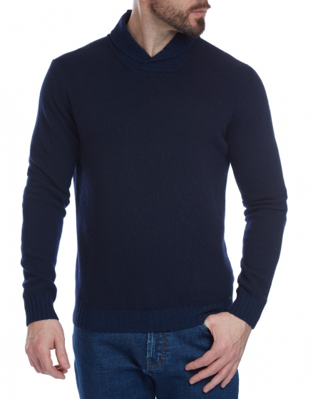 W. WEGENER 6934 kék férfi pulóver